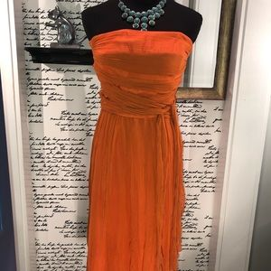 Diane Von Furstenburg Strapless Gauze Dress